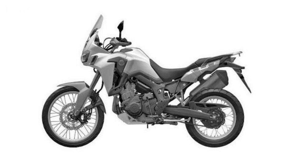 Moto - News: Honda CRF 1000 L Africa Twin: le foto dei brevetti