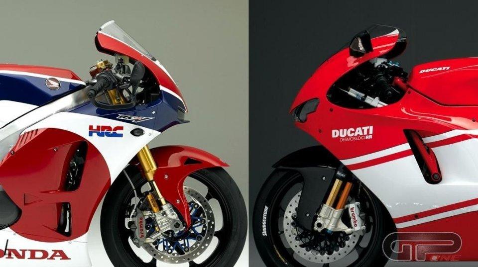 Honda RC213V-S vs Ducati D16RR: sogni da corsa