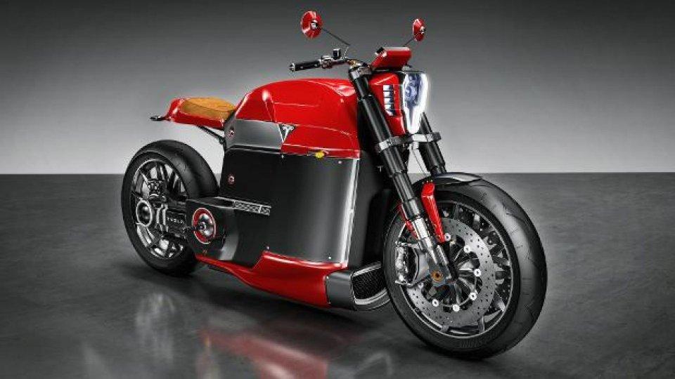 Moto - News: Tesla Model M: un nuovo concept di moto elettrica