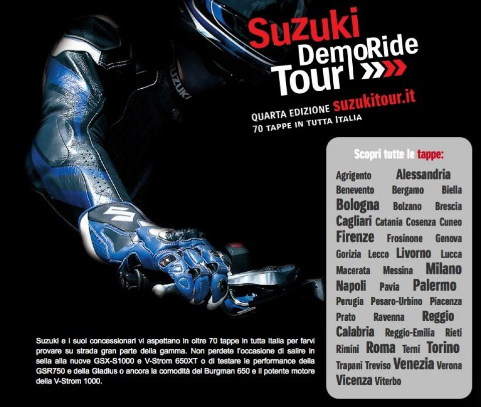Suzuki Demo Ride Tour 2015: ultime date