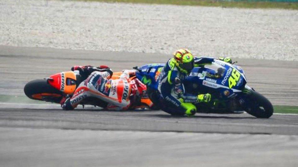 Moto - News: MotoGP: Rossi-Marquez, cosa sarebbe successo se...
