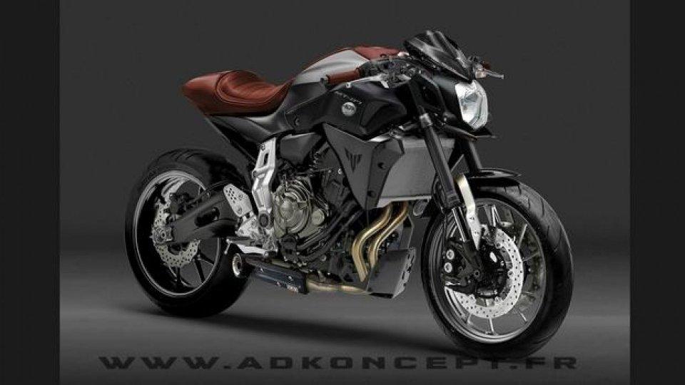 Moto - News: Concept Yamaha MT-07 Racer by AD Koncept