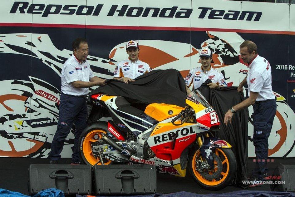 Tutte le foto delle Honda 2016 di Marquez e Pedrosa