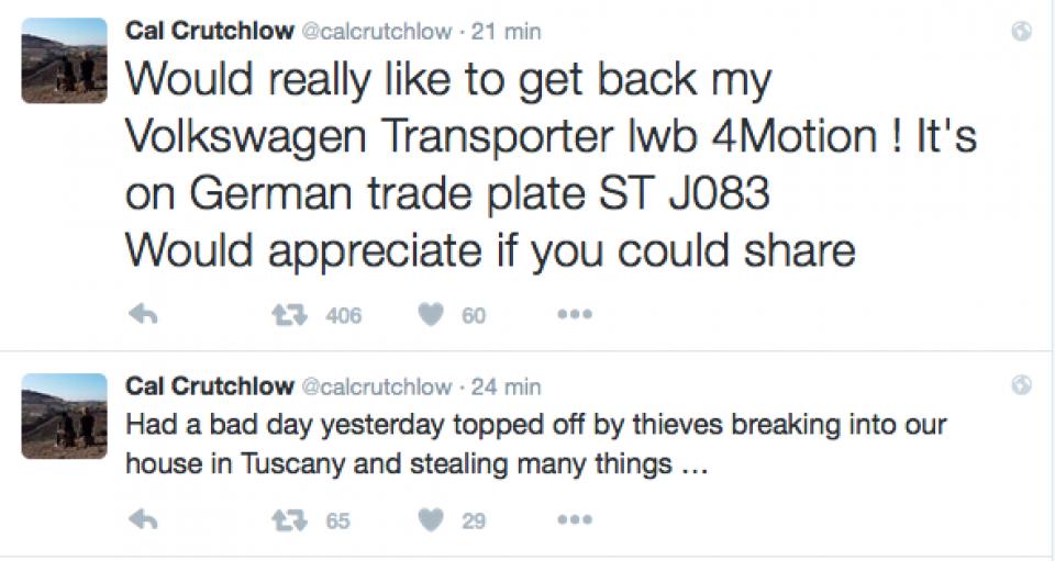 Furto in casa Crutchlow, rubato un van
