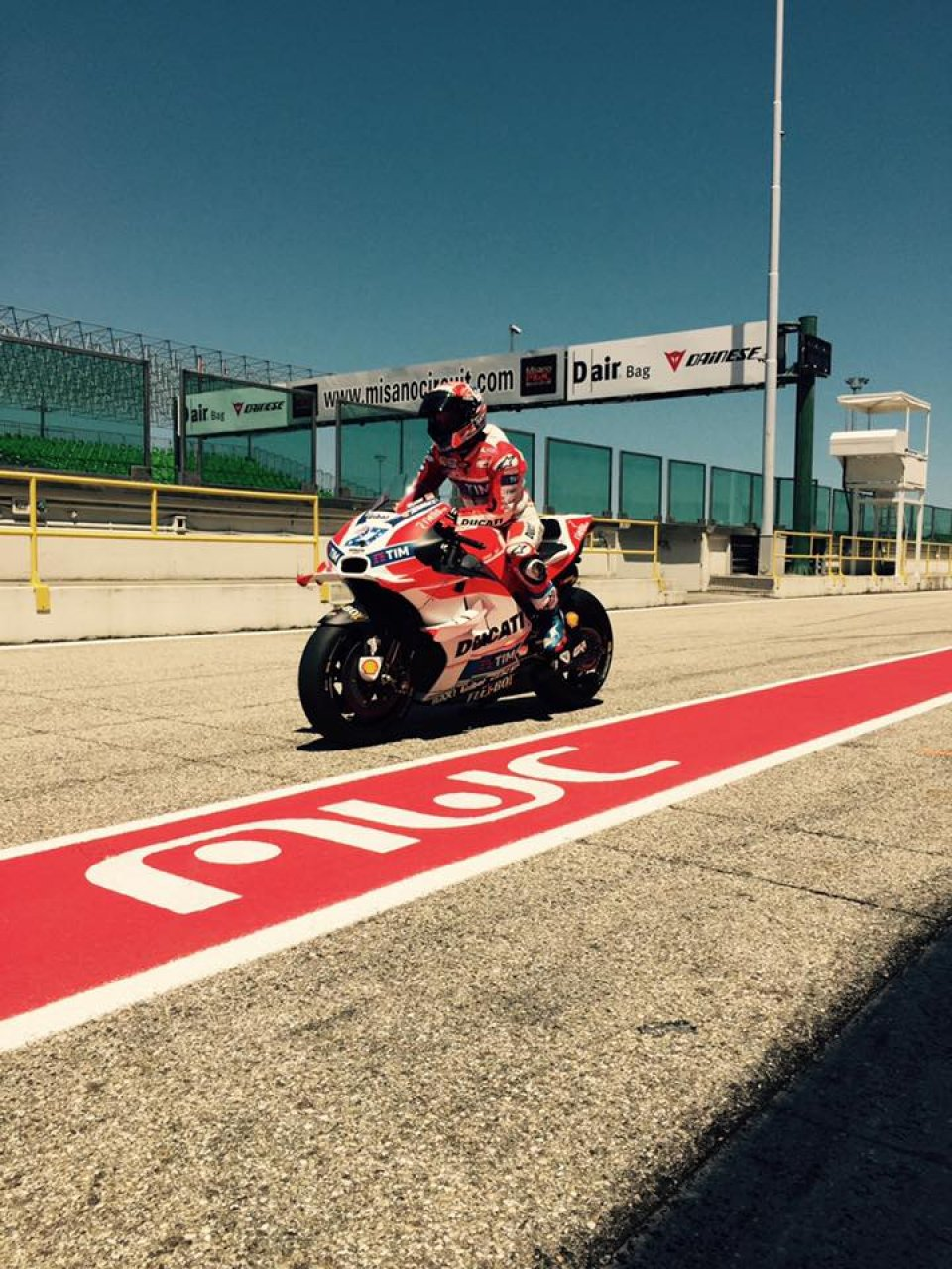 PICTURE: Stoner on the Ducati in Misano