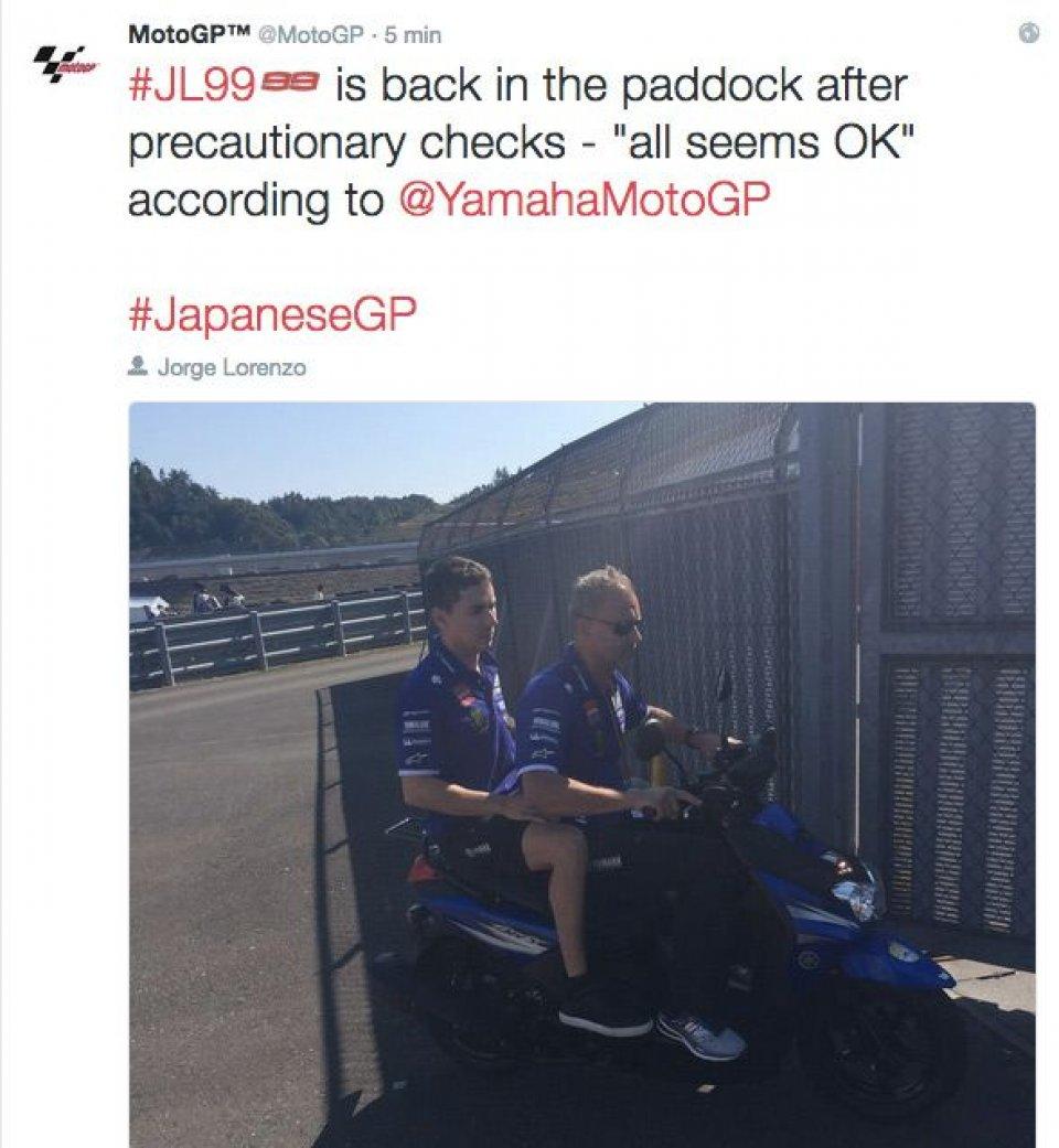 Lorenzo: nessuna complicazione, torna il sella nelle FP4