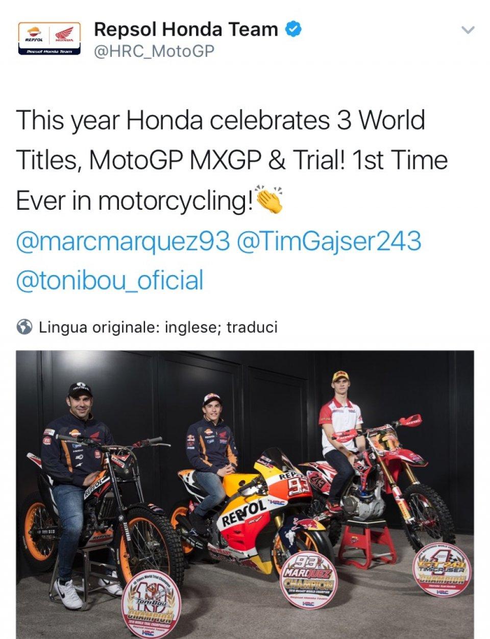 Quest'anno la Honda ha festeggiato tre titoli a Motegi