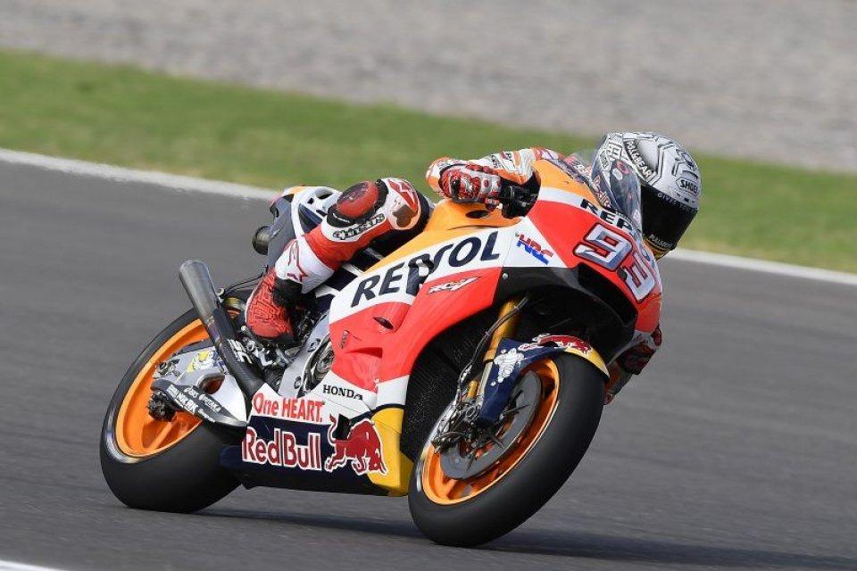 MotoGP: Marquez, phenomenal pole in the wet at Rio Hondo, Rossi 7th