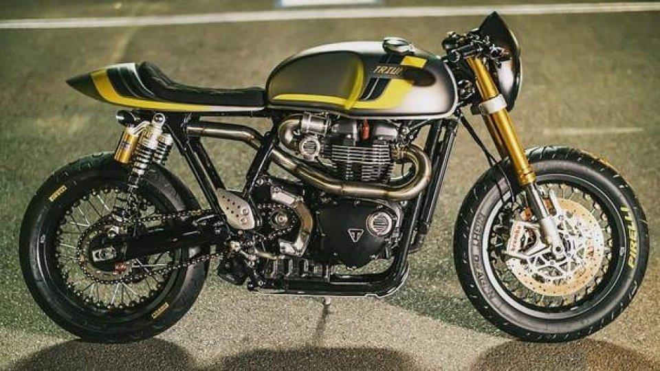 Moto - News: Dark Arts, la Triumph Thruxton R by Wenley Andrew