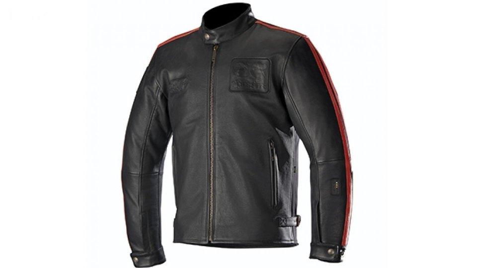 Moto - News: Alpinestars, l'airbag sulla giacca in pelle vintage