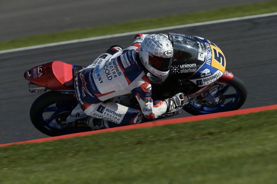 Moto3: QP: Fenati rompe il tabù: prima pole 2017 a Silverstone