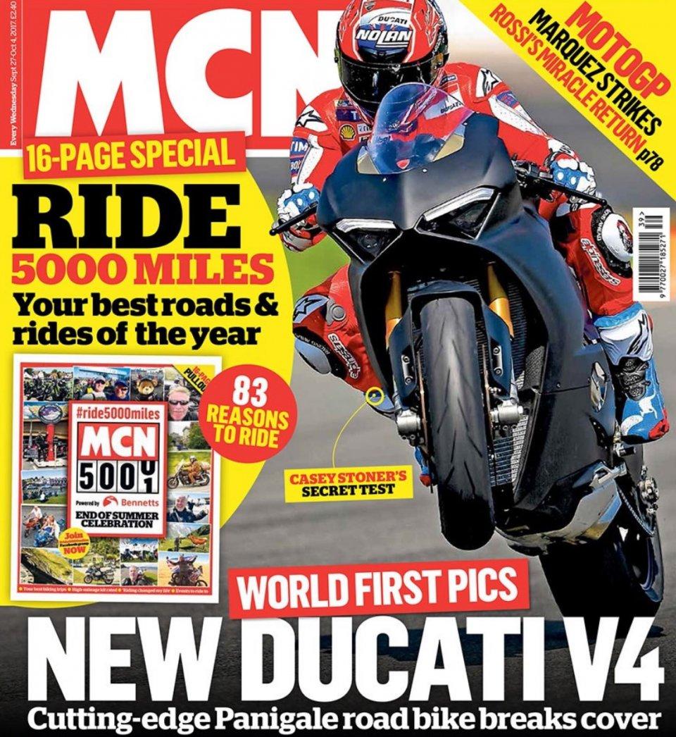 MotoGP: CATTIVA Stoner in sella alla Ducati Panigale V4