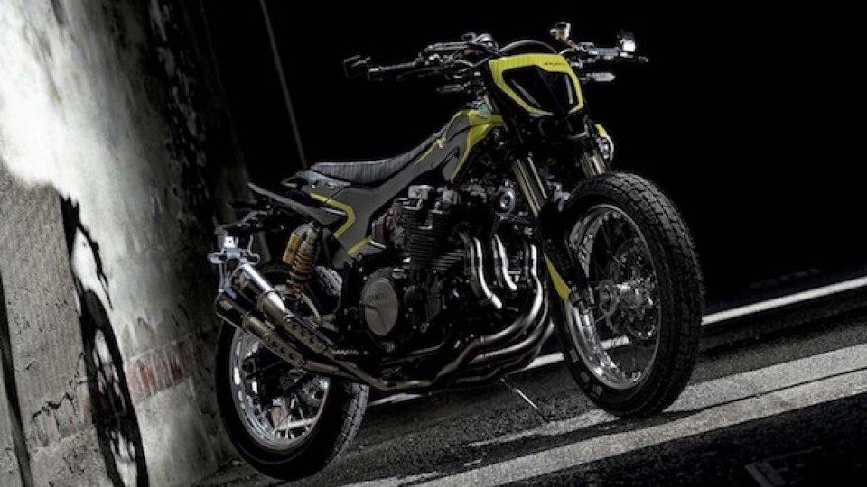 Moto - News: Yamaha XJR1300 Mya, omaggio a Valentino Rossi