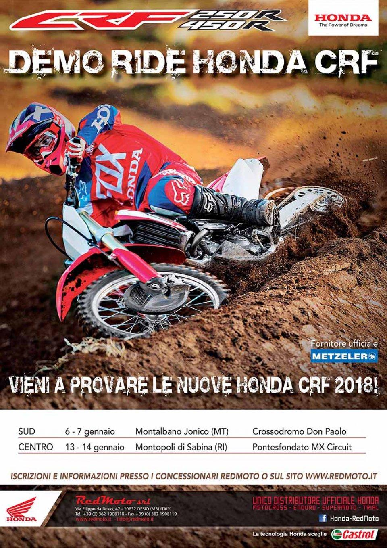 Moto - News: Demoride Honda CRF 2018 Centro e Sud Italia