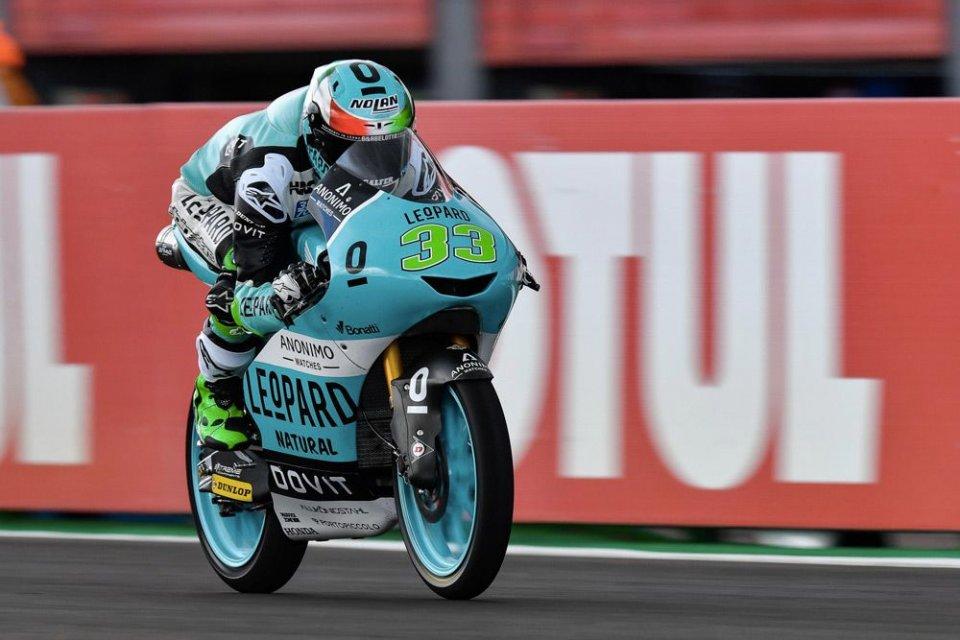Moto3: FP2, tris tricolore: 1° Bastianini, 2° Dalla Porta, 3° Arbolino