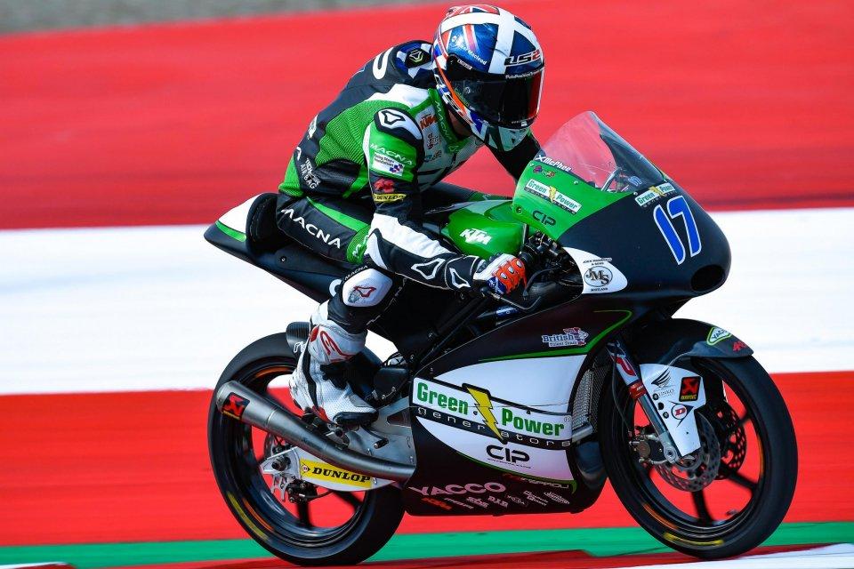 Moto3: FP2: pioggia a tratti, Mcphee precede Bezzecchi