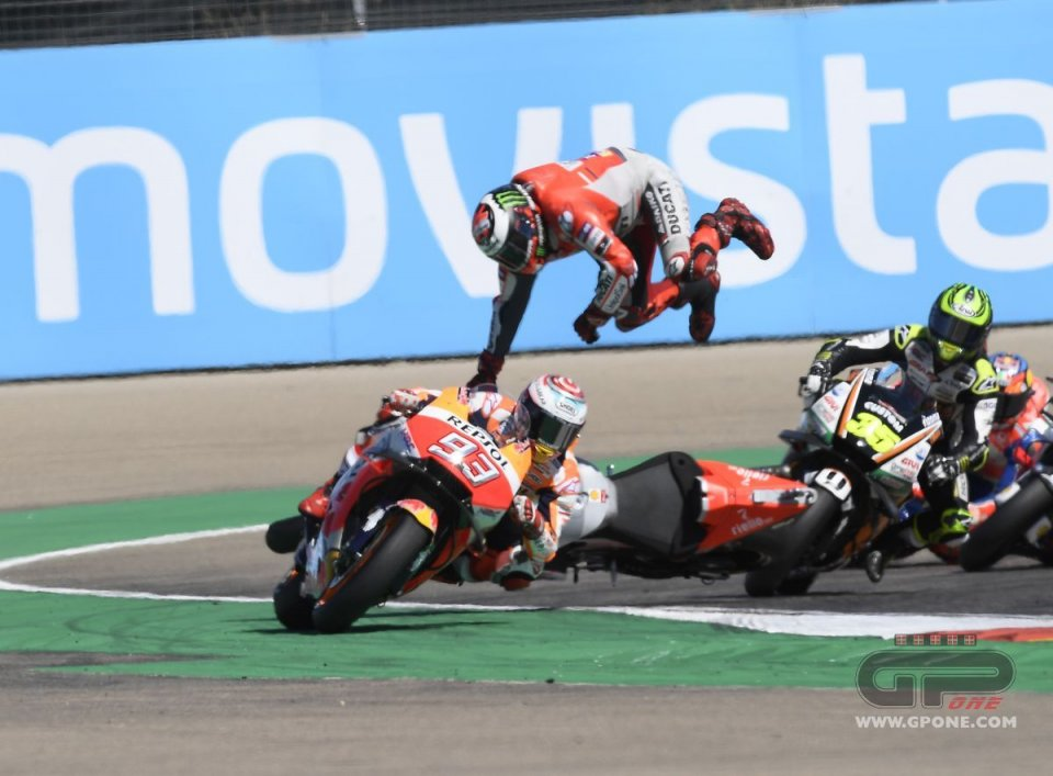 MotoGP: Paura per Jorge Lorenzo ad Aragon