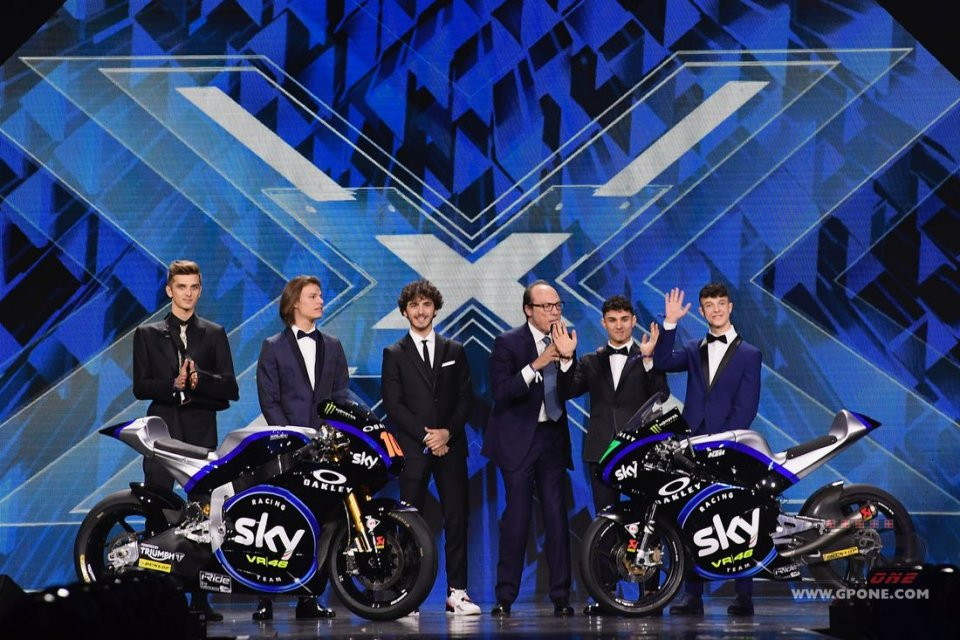 Moto2: Team Sky updates its look and unveils it on X Factor