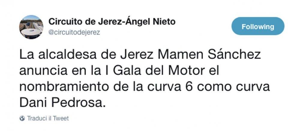 MotoGP: The Jerez track dedicates turn 6 to Dani Pedrosa