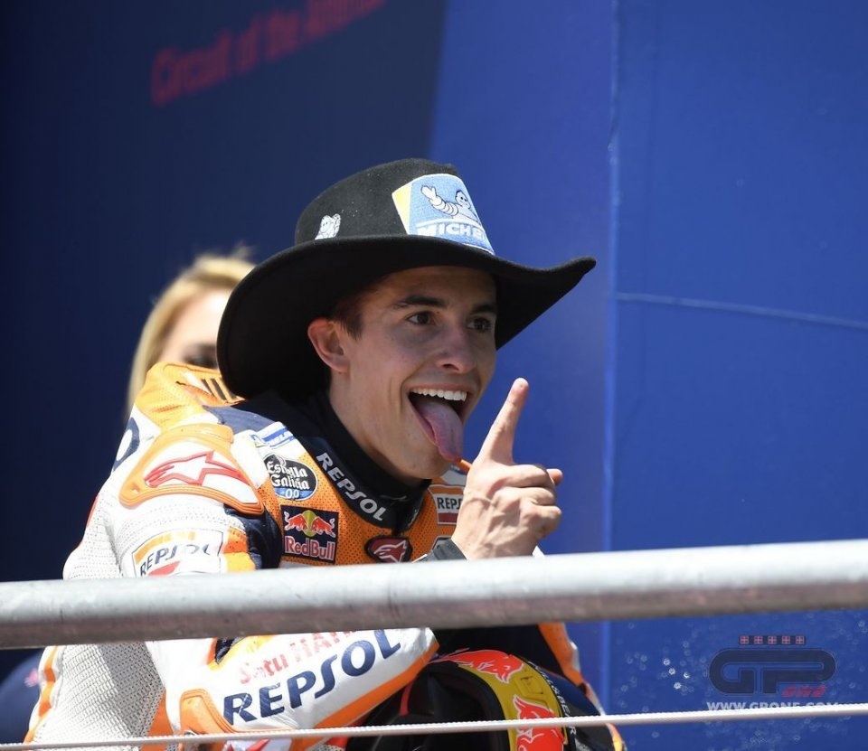 Marquez is frightening, his smile his armour