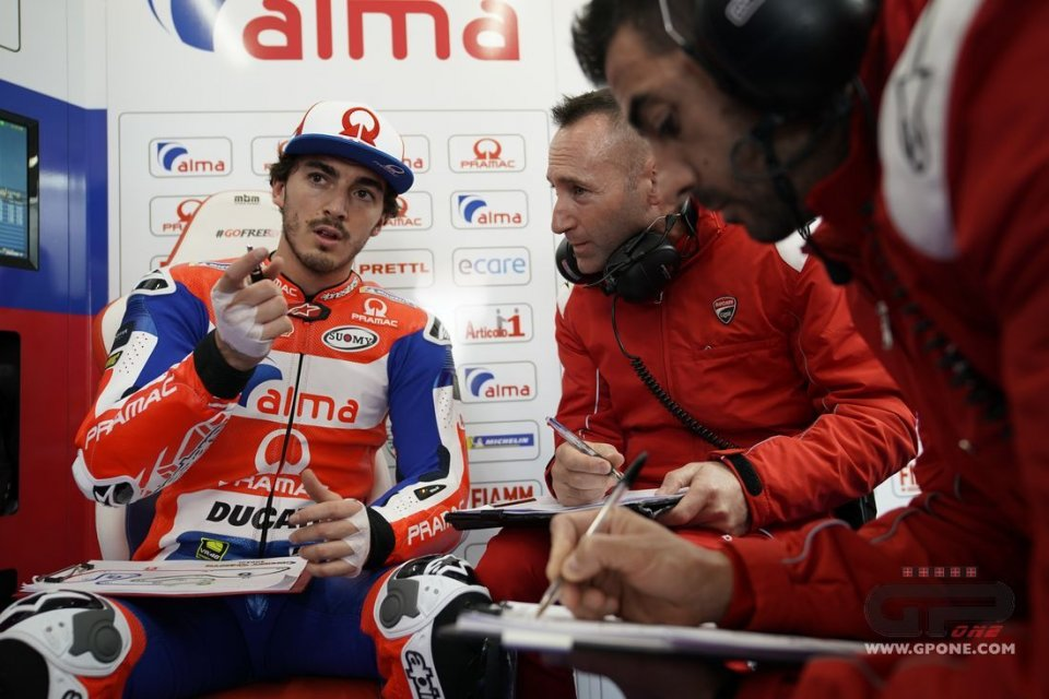 """MotoGP: Bagnaia: """"Seguire Lorenzo mi ha lasciato a bocca aperta"""""""