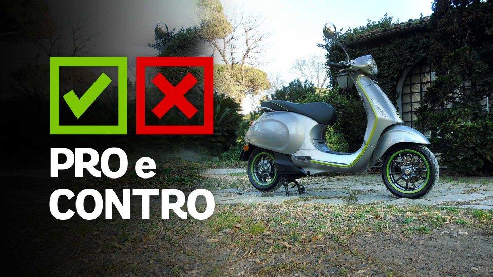 Moto - Test: Vespa Elettrica, pro e contro