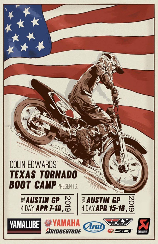 News: Colin Edwards' Texas Tornado Boot Camp announces 2019 Schedule