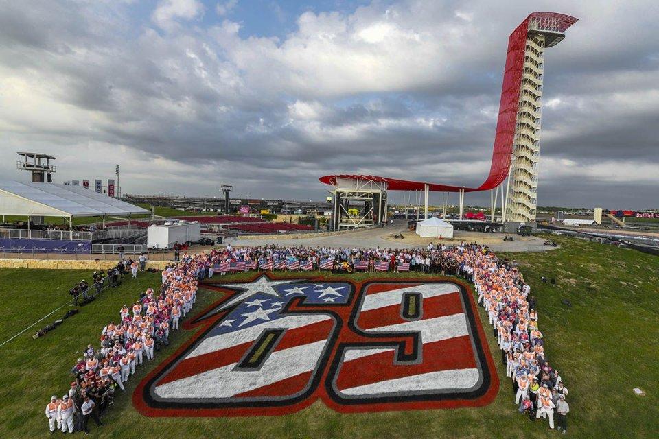 MotoGP: La collina di Hayden ad Austin celebrata con la moto iridata di Nicky
