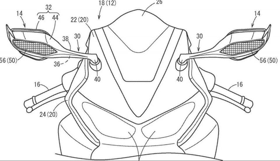 Moto - News: Honda CBR: alette di estremità sugli specchietti