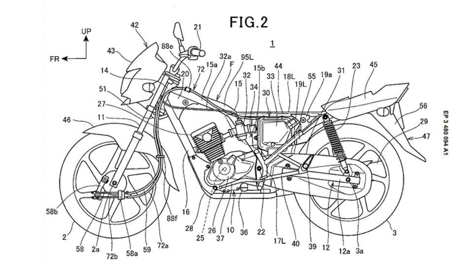 Moto - News: Honda e lo strano brevetto con il doppio freno a tamburo