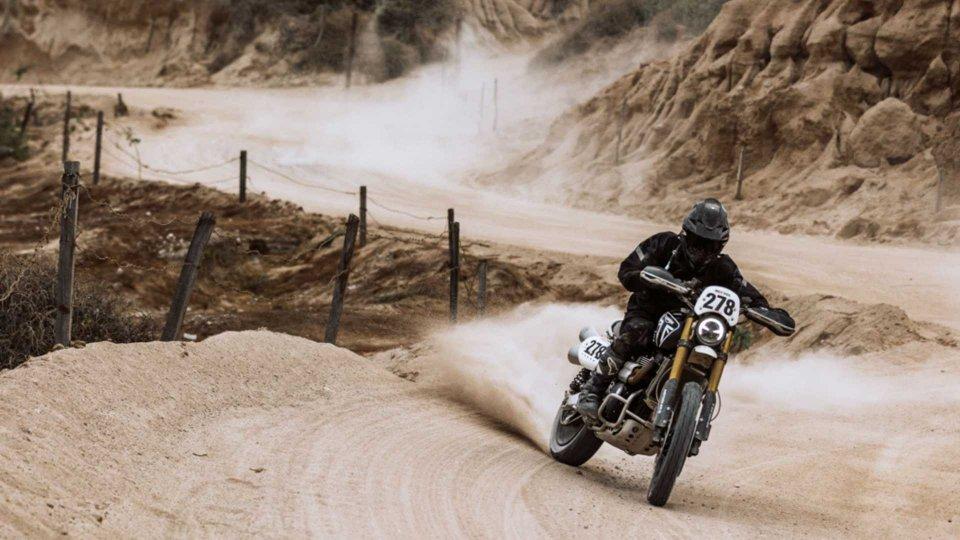 Moto - News: Triumph, Ernie Vigil e la Scrambler 1200 quinti alla Mexican 1000