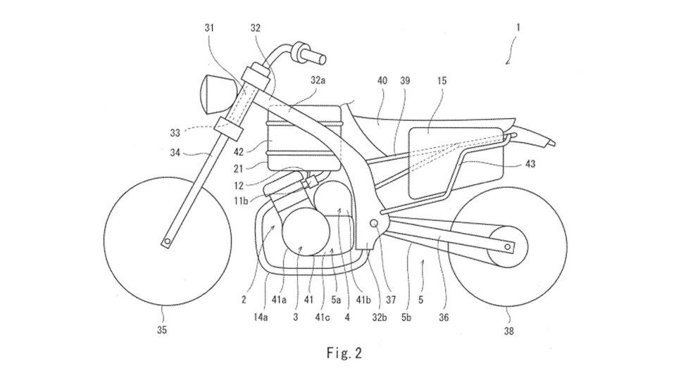 Moto - News: Kawasaki brevetta la moto ibrida