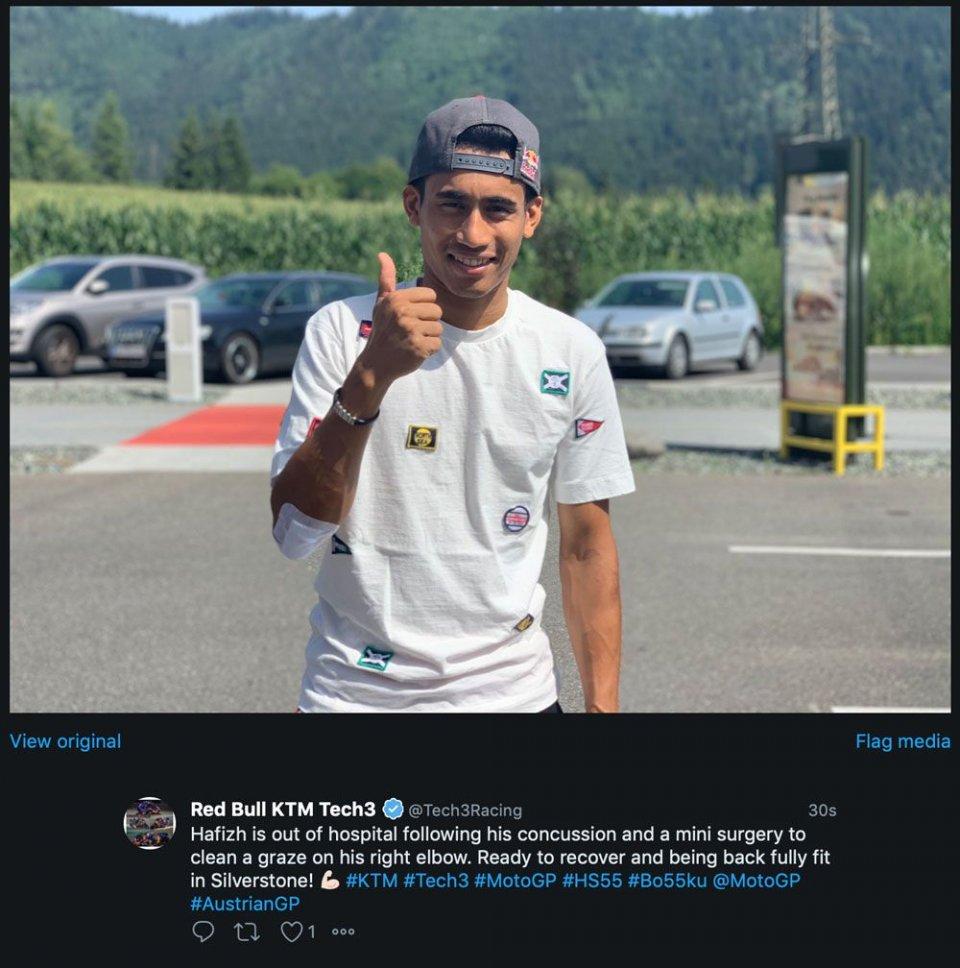 MotoGP: Syahrin dimesso dall'ospedale, correrà a Silverstone