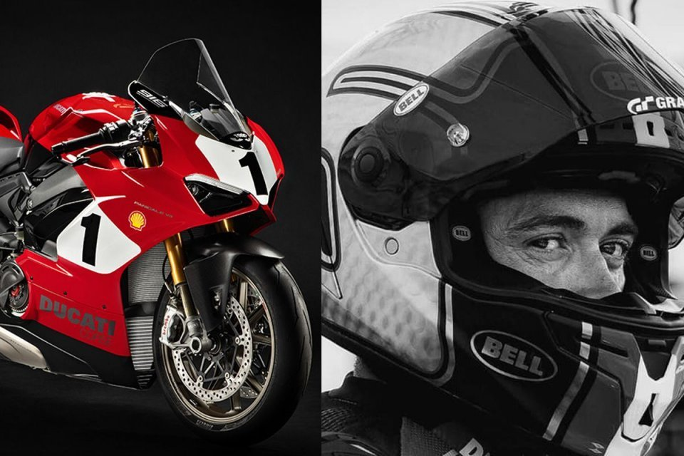 Moto - News: Ducati Heart: a Panigale V4 25th Anniversary 916 auctioned for Dunne
