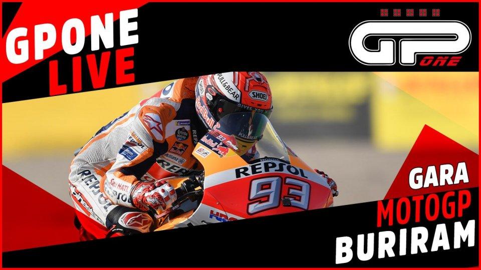 MotoGP: Buriram, cronaca LIVE: Marquez campione del mondo!