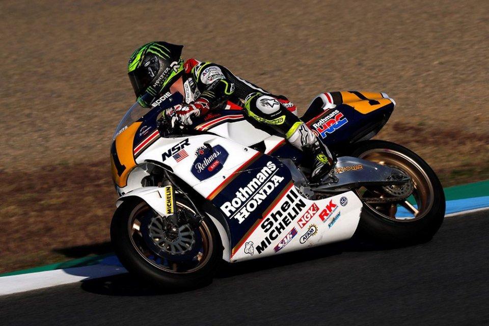 MotoGP: Crutchlow cede al fascino del 2 tempi: a Motegi sulla NSR500 di Lawson