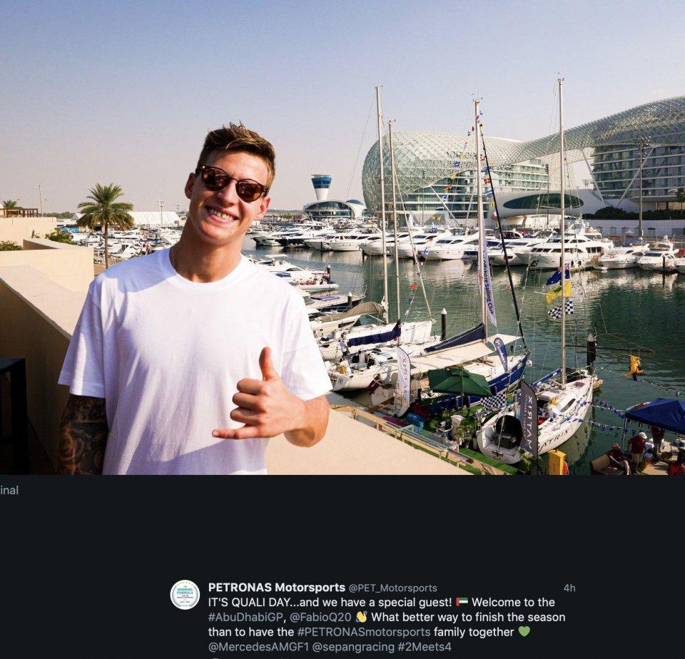 MotoGP: Fabio Quartararo 'coach' di Lewis Hamilton ad Abu Dhabi