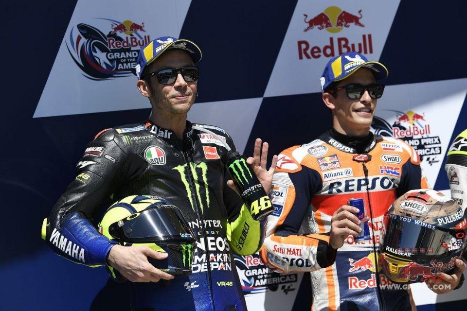 MotoGP: Rossi batte Marquez... con 10 anni di anticipo