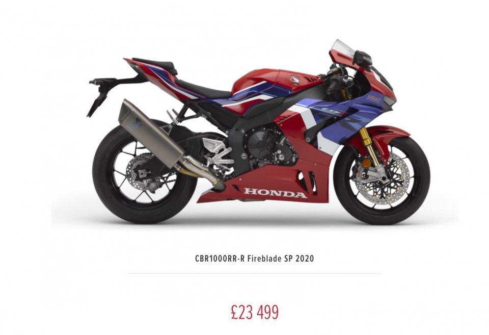 Moto - News: Svelato il prezzo della moto più attesa del 2020: Honda CBR 1000 RR-R