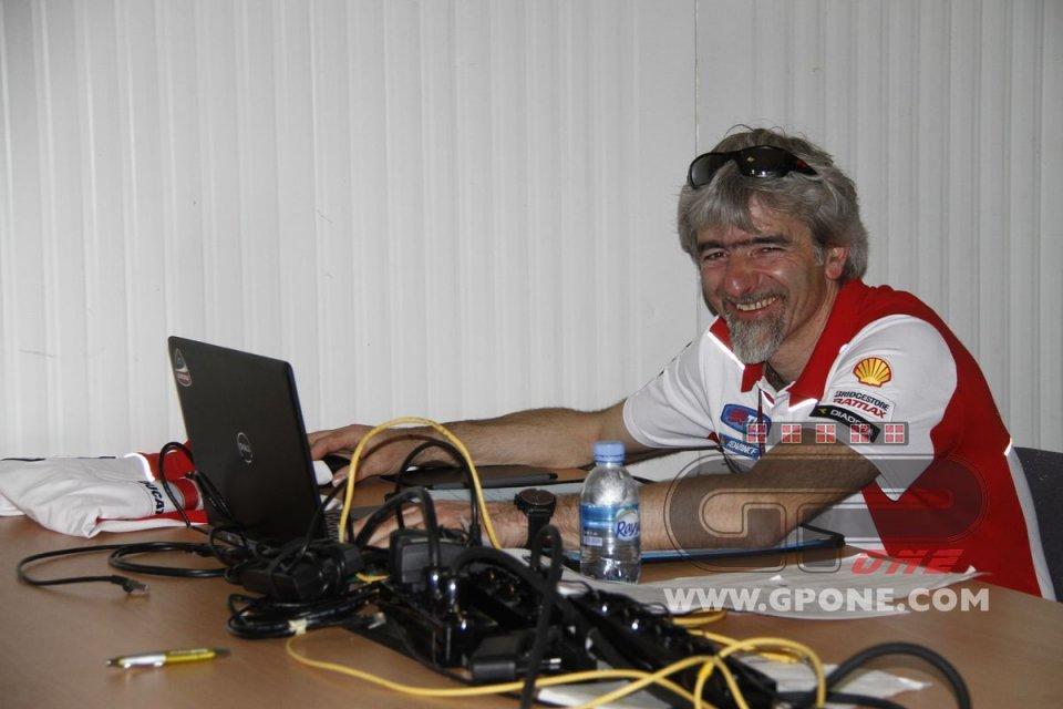 Gigi Dall'Igna, his first cigar and prosecco for Ducati in 2019