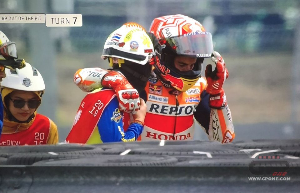 Marc Marquez, after the high-side: a show of strength