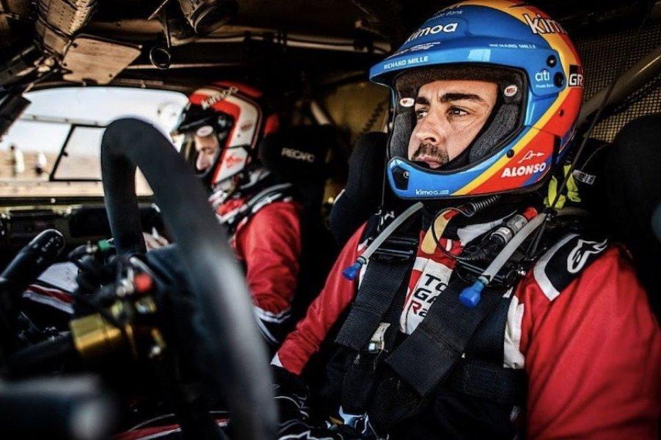"""Dakar: Alonso: """"Dakar non per marketing, se no farei come Rossi e Hamilton"""""""