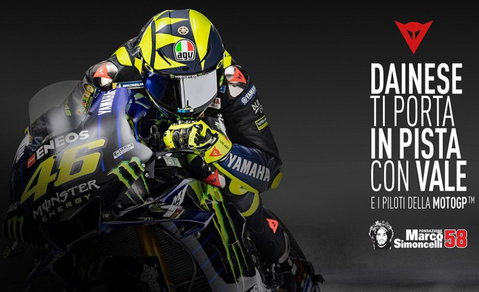 Moto - News: Torna Dainese Experience: in pista a Misano con Valentino Rossi