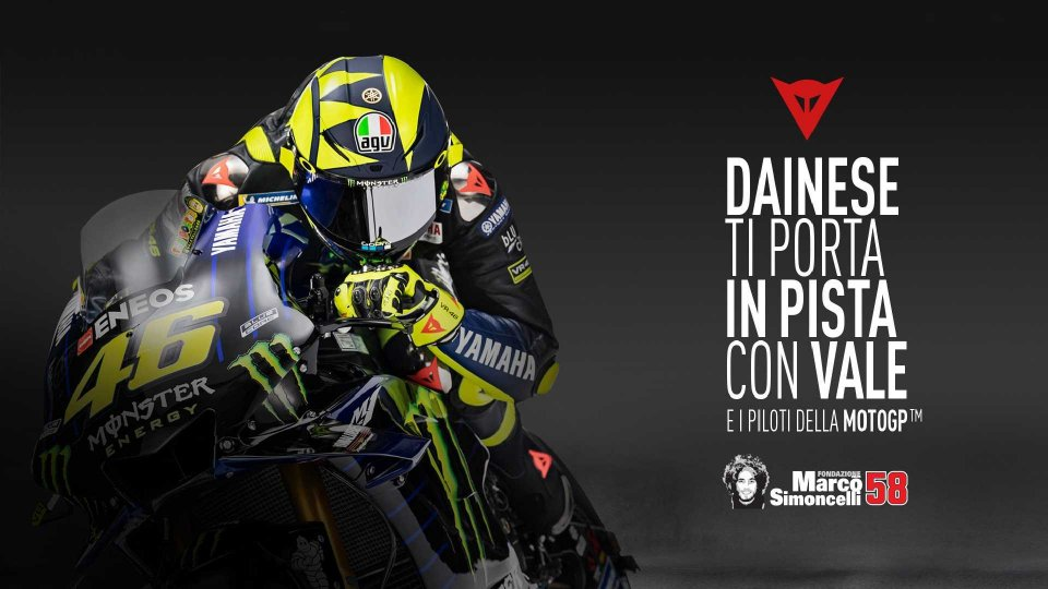 Moto - News: Dainese Riding Master: in pista con Valentino Rossi