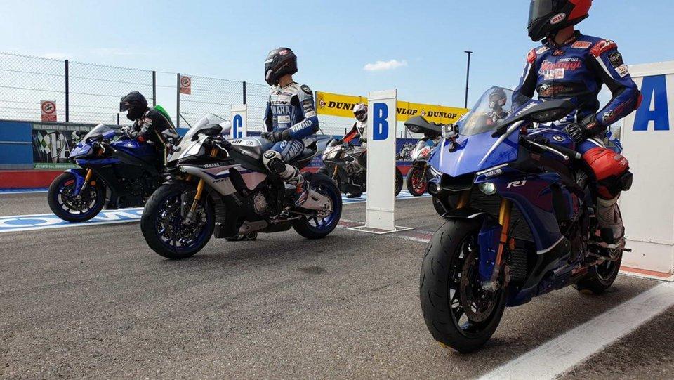 Moto - News: Yamaha: 10 anni con la Riding School di Pedersoli con Melandri e Haga