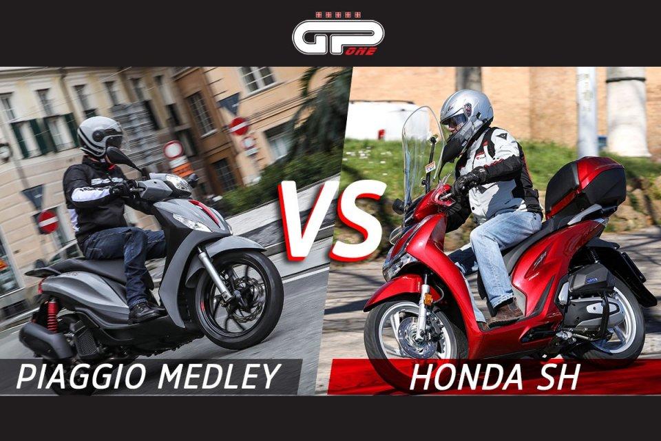 Moto - Scooter: Comparativa scooter: Honda SH Vs Piaggio Medley, sfida tra titani
