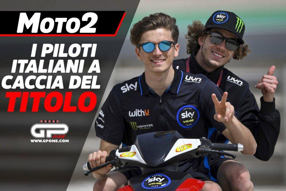 Moto2: Piloti italiani alla caccia del titolo in Moto2: ecco su chi puntare