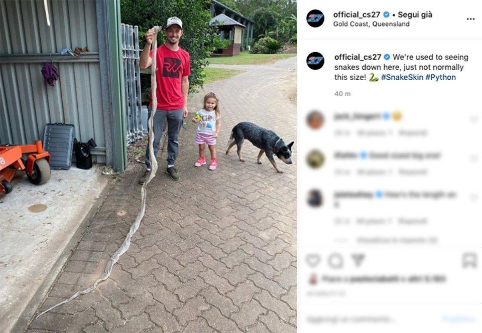 MotoGP: Casey Stoner and a really oversized snake!
