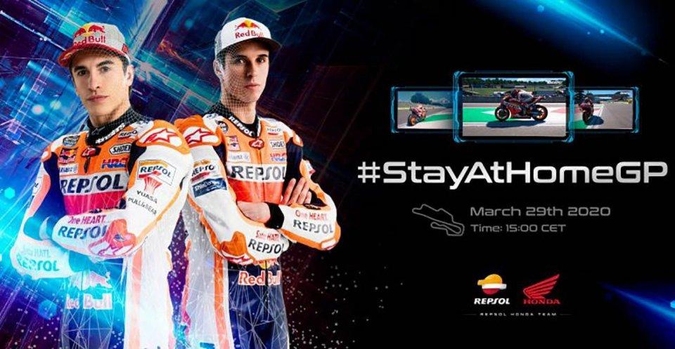 """MotoGP: Marc Marquez: """"La gara è virtuale? Io voglio vincere lo stesso"""""""