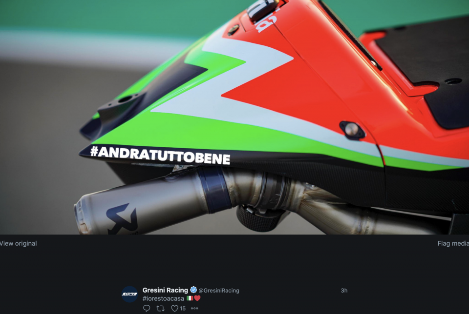 MotoGP: Waiting to see us all back on the track, Aprilia is optimistic